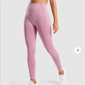 Gymshark Dusty Pink Marl Seamless Leggings